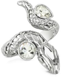 Just Cavalli - Silver Snake Women's Ring - Lyst