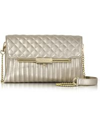Roccobarocco - Laminated Quilted Eco Leather Clutch - Lyst