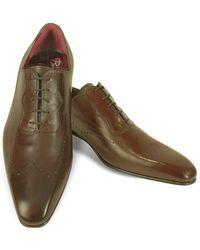 Fratelli Borgioli - Handmade Brown Italian Leather Wingtip Dress Shoe - Lyst