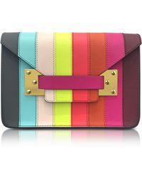 Sophie Hulme - Rainbow Mini Milner Saddle Leather Envelope Bag - Lyst