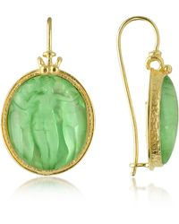 Tagliamonte - Three Graces - 18k Gold Mother Of Pearl Cameo Earrings - Lyst