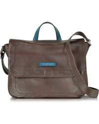 The Bridge - Plume Mix Uomo Dark Brown Leather Reporter Bag - Lyst