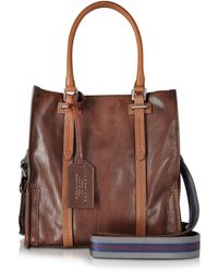 The Bridge - Ascott Marrone Small Leather Shopping Tote - Lyst