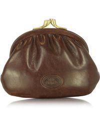 The Bridge - Brown Genuine Leather Coin Purse - Lyst