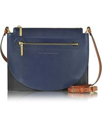 Victoria Beckham - Color Block Leather Moon Light Crossbody Bag - Lyst