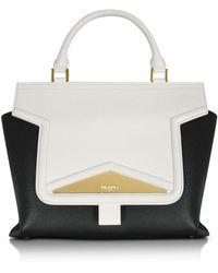 Vionnet - Mosaic 30 Color Block Leather Medium Satchel Bag W/shoulder Strap - Lyst