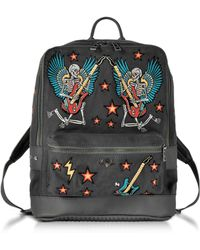 Zadig & Voltaire - Arizona Broderie Elephant Gray Canvas Backpack - Lyst