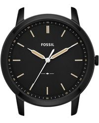 fa1d57561d33 Lyst - Fossil The Minimalist Three-hand Black Leather Watch in Black ...