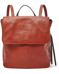 Fossil Claire Backpack Handbags Brandy