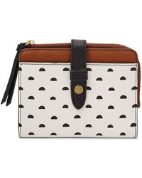 Fossil - Fiona Tab Multifunction Wallet White Multi - Lyst