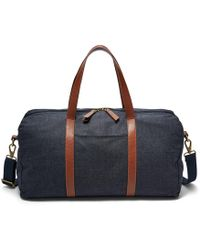 c10b0d508de0 Lyst - Fossil Estate Waxed Canvas Duffle Bag in Brown for Men