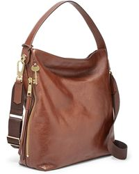 Fossil - Maya Large Hobo Handbag Brown - Lyst
