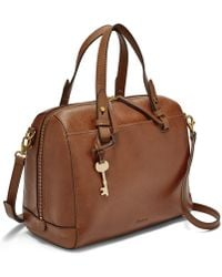 Fossil - Rachel Satchel Handbags Brown - Lyst