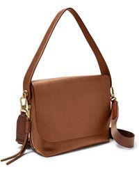 Fossil - Maya Large Crossbody Handbags Brown - Lyst