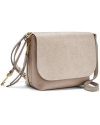 9b3af281b2 Lyst - Furla Metropolis Champagne Patent Leather Mini Crossbody Bag
