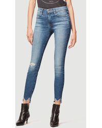 FRAME - Le High Skinny Front Chew - Lyst