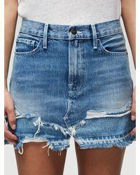 FRAME Le Mini Skirt With Released Hem Mended