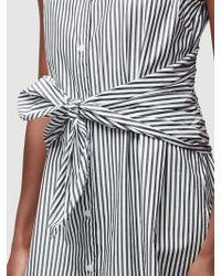 FRAME - Knot Stripe Dress - Lyst