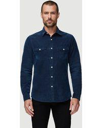 FRAME Long Sleeve Western Shirt - Blue