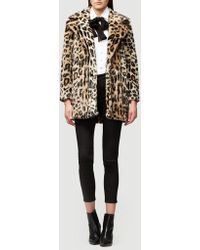 FRAME - Cheetah Faux Fur Coat - Lyst