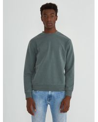 Frank And Oak - Washed Crewneck In Balsam Green - Lyst