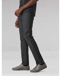 Frank And Oak - The Dylan Denim In Charcoal - Lyst