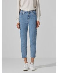 Frank And Oak - The Stevie High-waisted Tapered Jean In Light Indigo - Lyst