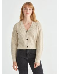 Frank + Oak - Cropped Bell Sleeve Cardigan In Nomad - Lyst