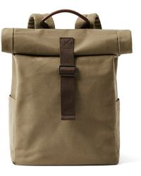 Frank And Oak - Canvas Roll-top Backpack In Military - Lyst