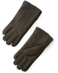 Frank + Oak - Shearling Gloves In Slate - Lyst