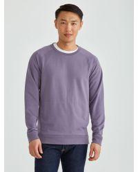 Frank And Oak - Drirelease® French Terry Crewneck Sweatshirt In Cadet - Lyst