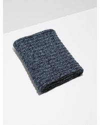 Frank And Oak - 2-tone Wool-bend Knit Scarf In Indigo - Lyst