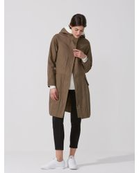 Frank And Oak - Cotton-linen Hooded Anorak In Olive - Lyst