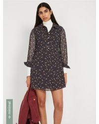Frank And Oak - Printed Fit & Flare Dress - Floral Pattern - Lyst