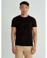 3f7461d9e2 Lyst - Frank + Oak Loose Fit T-shirt In Black Heather in Black for Men