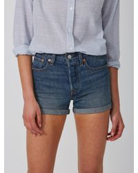 Frank And Oak - Levi's Wedgie Fit Shorts In Indigo - Lyst