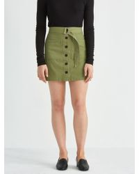 Frank And Oak - Utility A-line Skirt In Military Green - Lyst