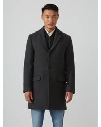 Frank And Oak - The Lawrence Wool-blend Topcoat In Mixed Grey - Lyst