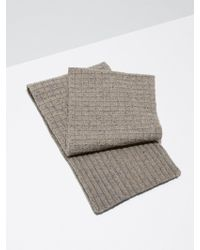 Frank And Oak - Donegal-wool Knit Scarf In Oatmeal - Lyst