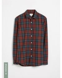 Frank And Oak - Recycled Polyester Blend Tartan Shirt - Red And Green - Lyst