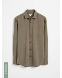 Frank And Oak - Recycled Polyester Blend Shirt - Dark Beige - Lyst
