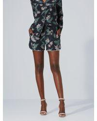 Frank And Oak - Floral Silk Pyjama Short In Black - Lyst
