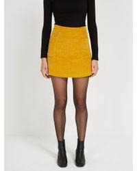 Frank And Oak - Corduroy Mini Skirt - Lyst