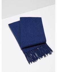 Frank And Oak - Wool-blend Scarf In Cobalt - Lyst