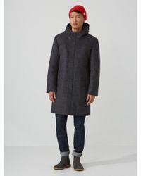 Frank And Oak - Bonded-wool Duffle Coat In Mixed Grey - Lyst
