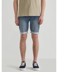 Frank And Oak - French Terry Denim Shorts In Washed Indigo - Lyst