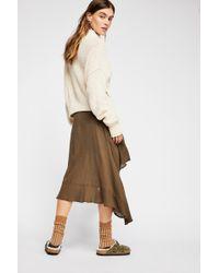 Free People - Gauzy Flounce Skirt By Kas New York - Lyst