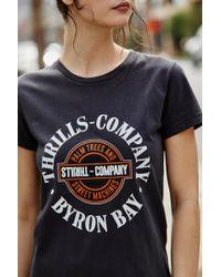 438f8026f2c Forever 21 Women s Thrills Graphic Tee Shirt - Lyst