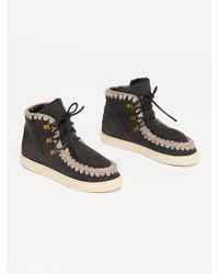 Free People - Mou Lace-up Trainer Boot - Lyst