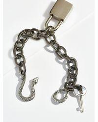 Free People - Snake Lock Chain Bracelet - Lyst
